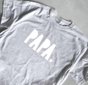 SAMPLE SALE - Papa Tee - Grey/ White