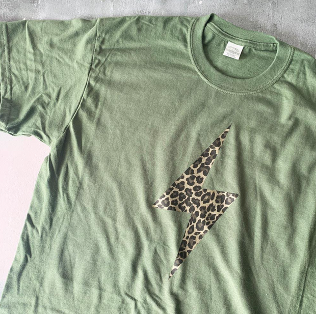 SAMPLE SALE - Lightening Flash - Khaki/ Leopard