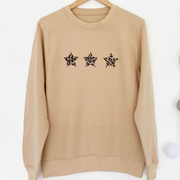 SAMPLE TRIPLE STAR Boyfriend Fit Sweat SAND/LEOPARD