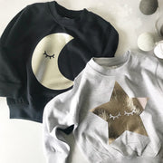 Sleepy Moon Childrens Classic Sweat - Navy/Silver