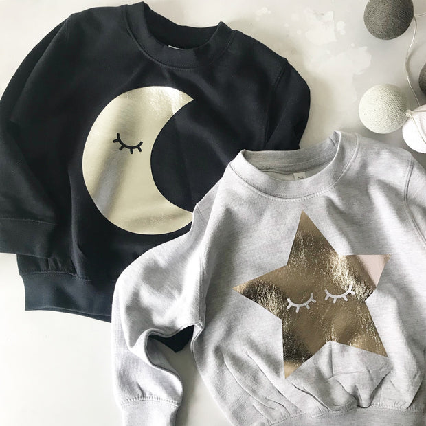 SAMPLE Sleepy Moon or Star Sleeve Childrens Classic Sweat