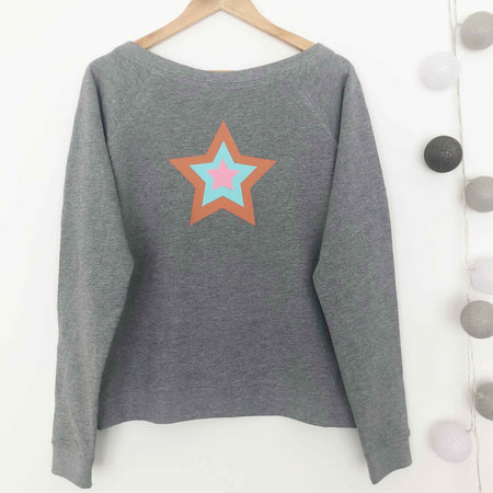 Retro Star Slounge Sweatshirt/ Grey