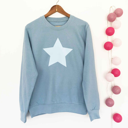 Star Boyfriend Classic Sweat - Dusty Blue