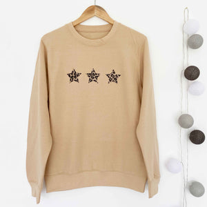 Triple Leopard Star Boyfriend Classic Sweat - GOLDEN SAND