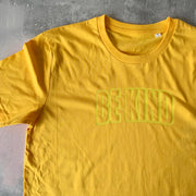 BE KIND Organic Classic Ringspun Jersey Tee - Golden / Lemon