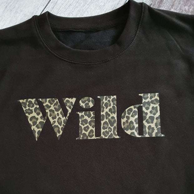 Wild Leopard Boyfriend Classic Sweat - Black