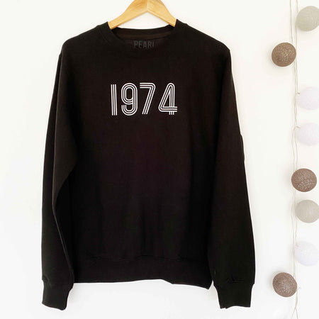BESPOKE YEAR Boyfriend Fit Sweat - BLACK/WHITE