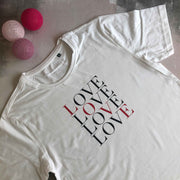 MORE LOVE 100% Organic Cotton Classic Tee - White