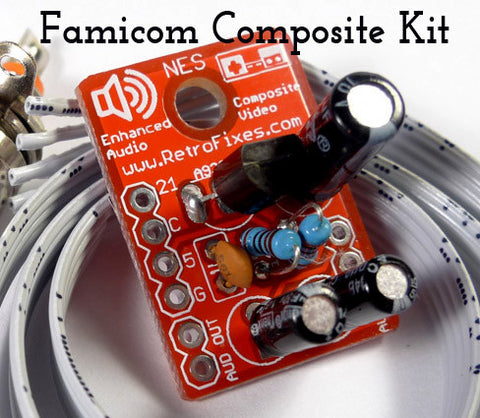 Original Famicom Composite Upgrade Kit + Cable / Port Options - RetroFixes - 1