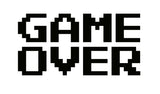 """Game Over"" Classic Arcade 8 Bit - Car Vinyl Decal"