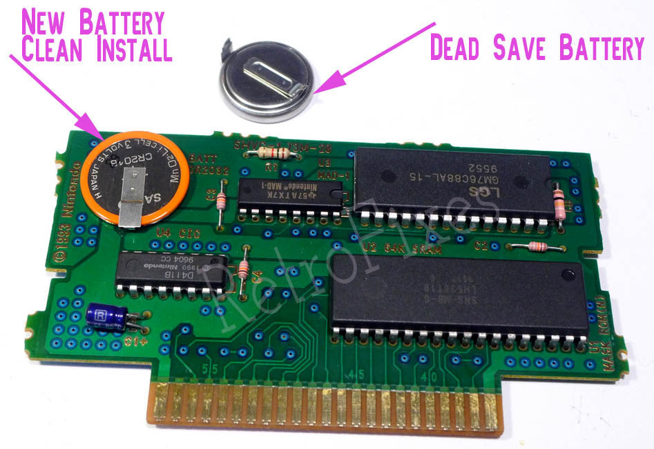 Game Save Battery Install Service SNES NES SEGA GENESIS GB GBA GBC Pokemon  & More