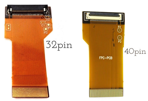 GBA 32 or 40 Pin Adapter Ribbon Cable - Backlight Mod