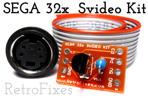 Sega 32x SVIDEO Upgrade Amp Kit - RetroFixes - 1