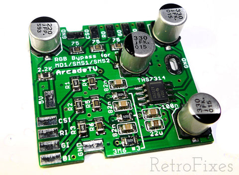 Sega Genesis Model 1 RGB Bypass Upgrade Kit - RetroFixes