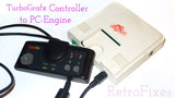 Adapt Turbografx Controller to PC Engine, Duo, Core & Supergrafx consoles + 4' Cable Extension - RetroFixes - 1