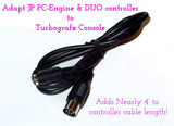 Adapt PC Engine, Duo, Core & Supergrafx controller to TurboGrafx + 4' Cable Extension - RetroFixes - 3