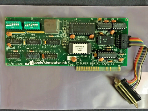 Working Apple 670-0020 Super Serial Card II with Cable