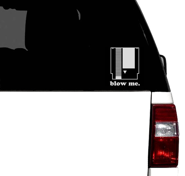 "NES ""Blow Me""  Retro Vinyl Car Graphic Decal"