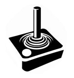 Atari JoyStick Retro Vinyl Graphic Decal