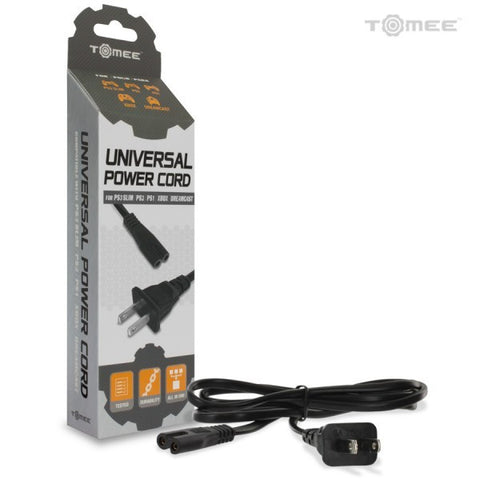 Universal Power Cord: PS4/ PS3 Slim/ PS2/ PS1/ Xbox/ Dreamcast
