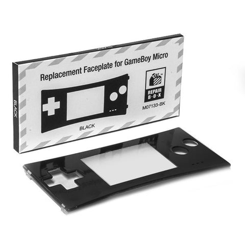 Game Boy Micro Replacement Faceplate Black or Clear