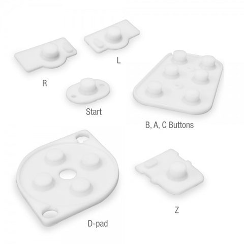 N64 Controller Silicone Replacement Conductive Pads - RetroFixes - 1