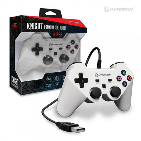 "PS3 ""Knight"" Premium Controller (White)"