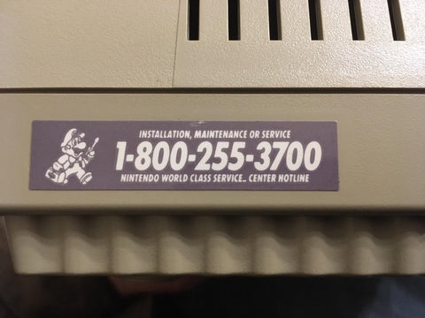 N64 Replacement Nintendo Service Decal