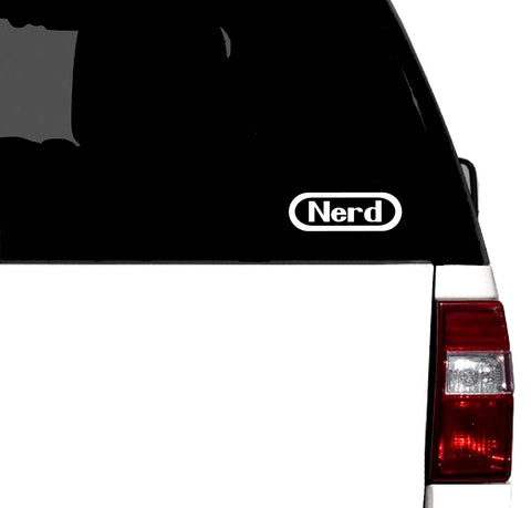 NERD Classic Retro Gaming Vinyl Car Decal