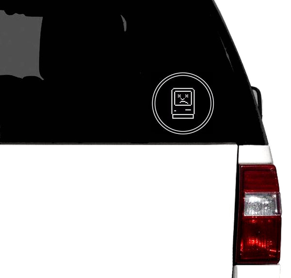 Sad Macintosh Vinyl Car Retro Decal