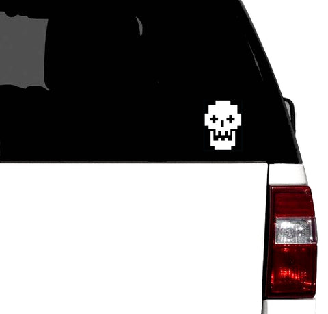 8bit Retro Skull Vinyl Graphic Decal