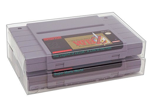 SNES Game Crystal Clear Archival Box Protectors - RetroFixes - 1
