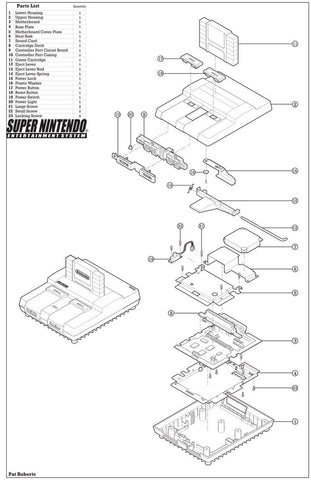 SNES and Super Famicom Replacement Parts