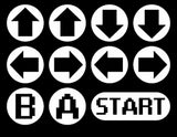 Konami Code 8bit Retro Vinyl Car Graphic Decal