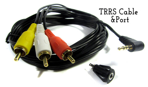 DIY TRRS Cable & Port Options (3.5mm to RCA Composite & Audio) - RetroFixes - 1