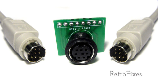 Mini Din 8pin Cable & Port Kit (Great for RGB projects) - RetroFixes - 1