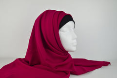 Rose Red Plain Square Hijab
