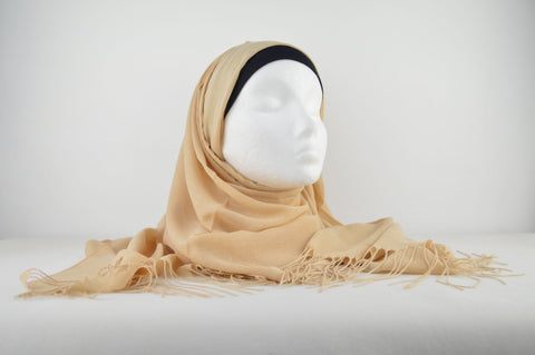 Plain Cashmere with Tassels Hijab