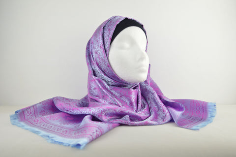 Silk Patterned Finish Hijab