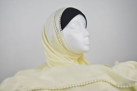 Extra Long Maxi Chaddar Style Hijab in Cream