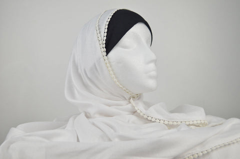Extra Long Maxi Chaddar Style Hijab in White