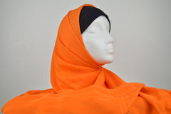Orange Turkish Border Hijab