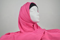 Pink Turkish Border Hijab