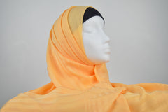 Peach Turkish Border Hijab
