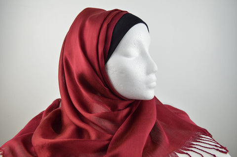 Satin Effect Plain Hijab