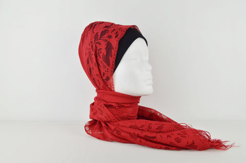 Netted Style Border Hijab