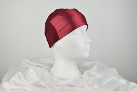 Plain Luxury Satin Bonnet Cap