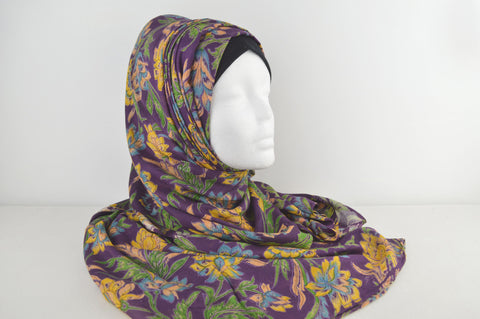 Indian Flower Printed Retro Hijab