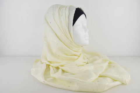 Indian Embroidered Hijab with Diamante