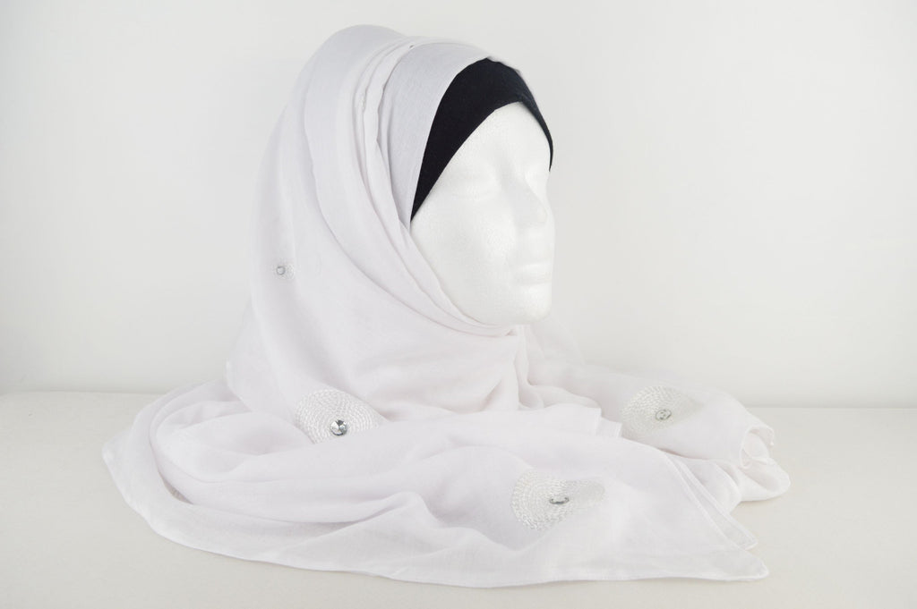 Fashion Hijabs Online White